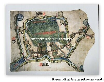 INCLESMOOR YORKSHIRE 15th CENTURY HISTORIC MEDIEVAL RARE HARDBACK MAP