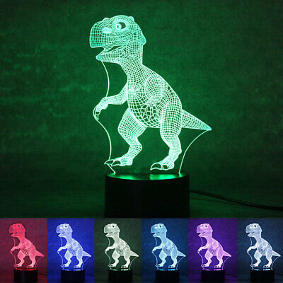Tyrannosaurus Rex 3D LED Night Lamp 7 Colors USB Hologram Decor Table Desk Light