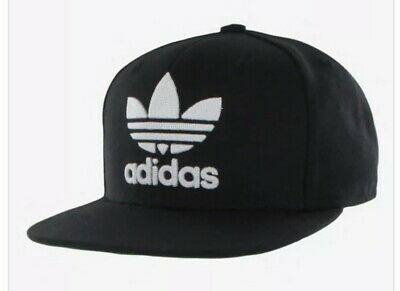 sports shoes d7d7c e5387 Adidas Originals Trefoil Chain Snapback Cap Men s Hat Black White  Adjustable Fit