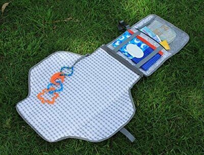 Portable Nappy Changing Mat - Waterproof Change Mat with Clutch - Travel Changin