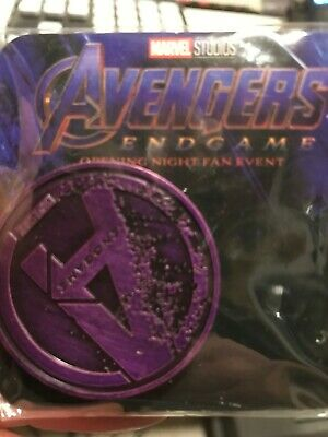 Avengers Endgame Purple Coin Collectible Opening Night Fan Event AMC