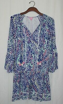 902d28283bd LILLY PULITZER PERCILLA Tunic Dress In Blue Grotto L - $65.00 | PicClick
