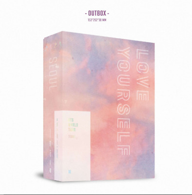 BTS World Tour 'LOVE YOUR SELF' SEOUL DVD 3Discs+Photobook+Poster+Photocard