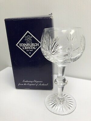 Single Vintage Edinburgh Crystal Wine Goblet/Glass Star Of Edinburgh Design