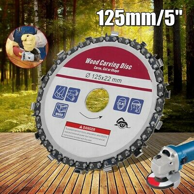 5'' 125mm Angle Grinder Chain Saw Disc 14 Teeth Saw Blade Wood Carving Cutting