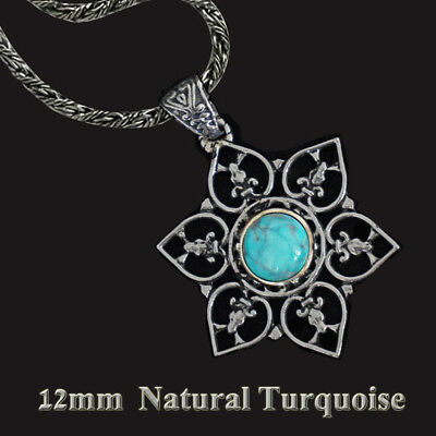 Star of David sterling silver Necklace Turqoise Handmade gift From  Holy Land
