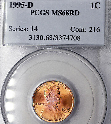 1995-D MS68 RD Red Lincoln Memorial Cent 1c, PCGS Graded!