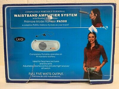 LKG Philmore PA500 Waistband Amplifier System No Headset