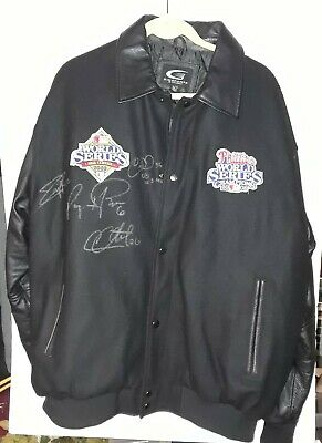 2008 Phillies World Series Autograph Jacket RYAN HOWARD CHASE UTLEY COLE HAMELS
