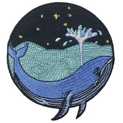 Embroidered Patches Iron Sew On Patches transfers Badges appliques Whale and Sea