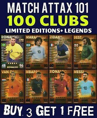 Match Attax 101 2019 100 Club And Legends Cards - Homegrown Heroes - Home Grown