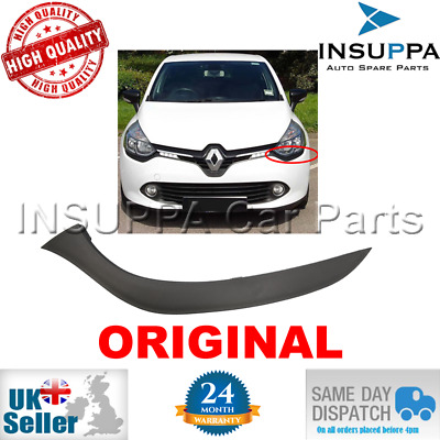 RENAULT CLIO IV mk4 13 FRONT BUMPER HEADLIGHT MOULDING TRIM RIGHT O//S DRIVER