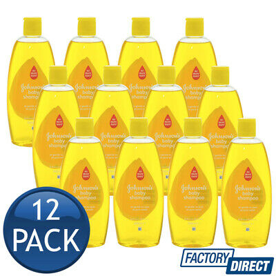 12 x JOHNSONS BABY BABIES SHAMPOO HYPOALLERGENIC SOAP FREE GENTLE NO TEARS 500mL