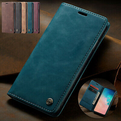 For Samsung Galaxy A50 Case A70 M10 A20 Retro Magnetic Leather Card Holder Cover