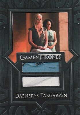 Game of Thrones Season 7, Daenerys Targaryen Dual Costume Relic Card VR6
