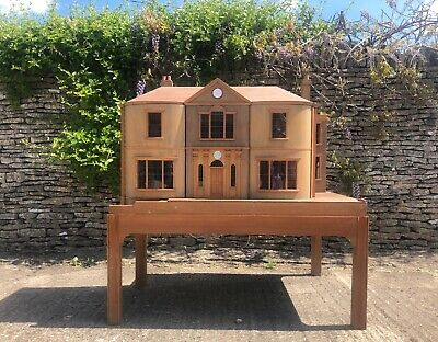 20th Century Large Georgian Antique Style Doll's House built by Master Craftsman