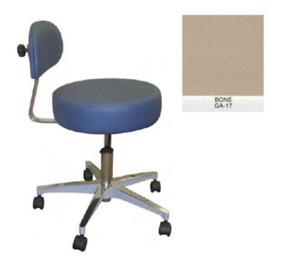 New Galaxy Doctor's Stool-Round Seat Comfortable Back Support Bone Color 1060