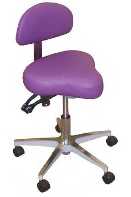 New Galaxy Hygienist Stool With 2-Way Adjustable Height & Back Support 1150