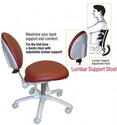 New Galaxy Lumbar Support Stool 3-Way Adjustable Height Back And Seat Tilt 2250