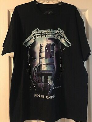 e4f13ff08 Metallica Ride The Lightning Cover Art Black T-shirt Mens Size XL Retail  20.00