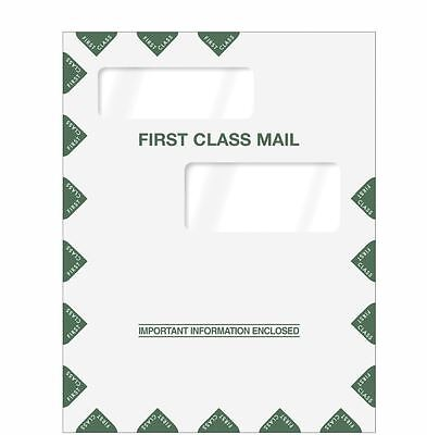 9 x 11.5 Double Window First Class Envelope 80324