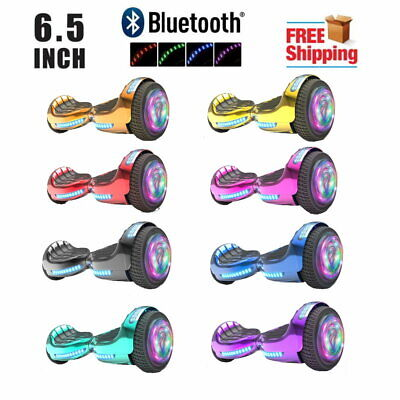6.5'' Hoverboard with Bluetooth, Self-Balance Led Flash Wheel, UL Chrome Color
