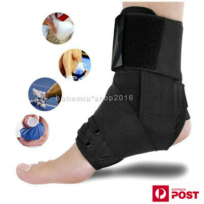 Medical Lace Up Ankle Brace Support Stabilizer Mild Sprains Protection S/ M/ L