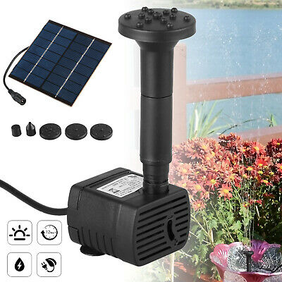 Garden Patio 150L/H Solar Fountain Pump Kit Water Pump Pond With Sponge Filter