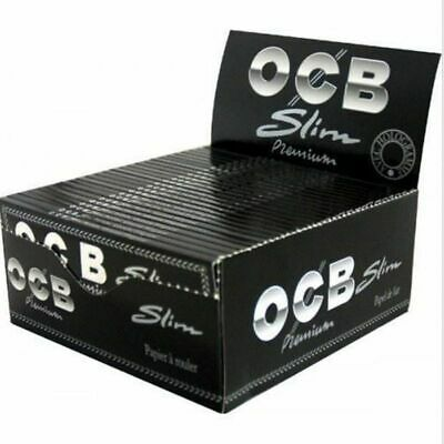 OCB Premium King Size Slim Rolling Papers -50 Packs- Ultra Natural Flax Gum FAST