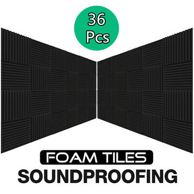 36 Pack Acoustic Studio Room KTV Soundproofing Foam Acoustic Tiles Foam Sound