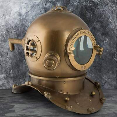 Replica Antique Brass Divers Helmet