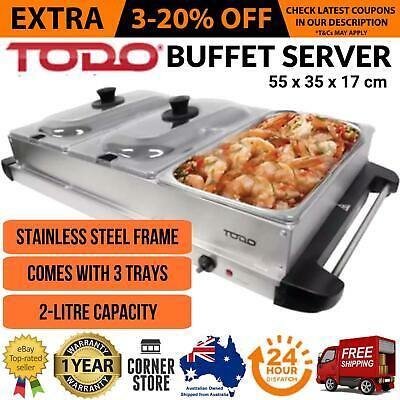 Buffet Server Party Food Wamer Bain Marie Display Electric Chafing Tray Warming