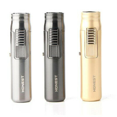 Honest Mini Pocket Windproof Jet Torch Flame Refillable Butane Gas Cigar Lighter