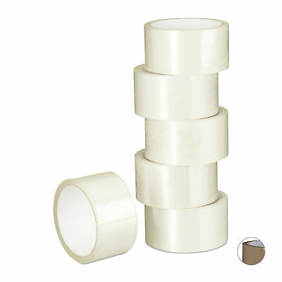 Packaging Tape 48mm Adhesive Tape, 6 Rolls, PP-Foil Duct Tape, 48 mm