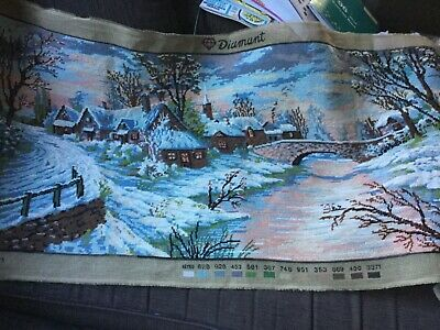Unframed finished TAPESTRY EMBROIDERY 125cm x 60cm Surplus to need