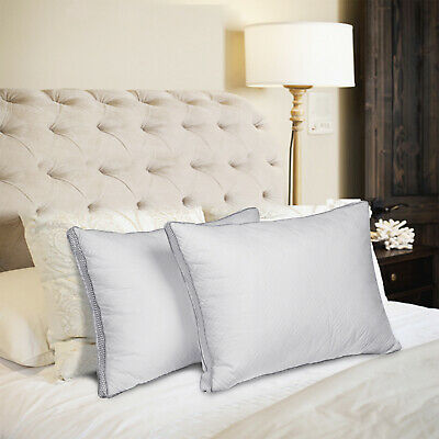 2 Pack Bed Pillow Standard/Queen/King Soft Down Feather Sleeping Cotton Pillows