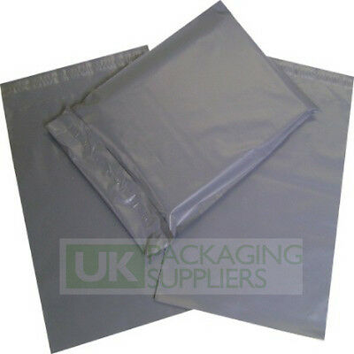 250 x GREY PLASTIC MAILING BAGS ASSORTED MIXED VARIOUS SIZES PACK - NEW