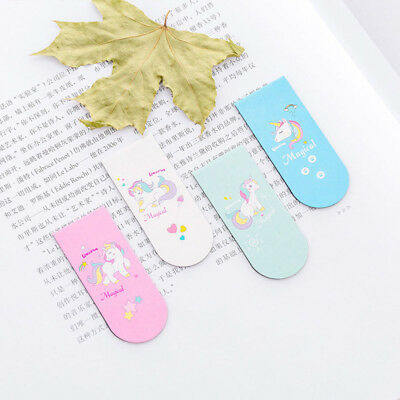 Cool Unicorn Magnetic Bookmark Marker of Page School Office Student Read Kids