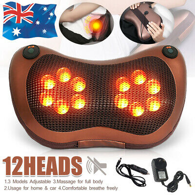Electric Body Massage Pillow Massager Cushion Neck Back Shoulder Legs Home & Car