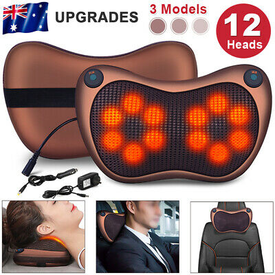 Electric Infrared Shiatsu Massager Pillow Cushion Lumbar Body Neck Back Home&Car