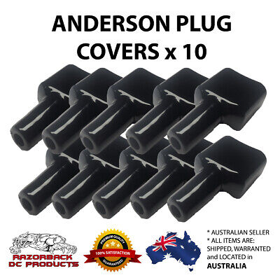 10x Waterproof Anderson Style 50A Plug dust cable sheath cover black 50A /50 AMP