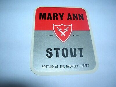MARY ANN  Stout  JERSEY  Brewery   Jersey Island  Great Britain