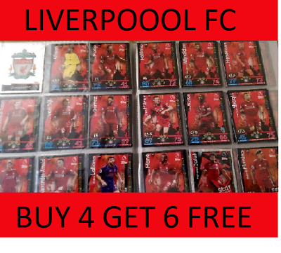 Match Attax 2018/19 Choose Liverpool Fc (6 X Times)Team Cards Buy 4 Get 6 Free