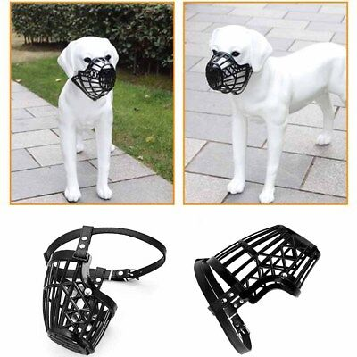 BlackPet Dog Muzzle Mouth Mesh Mask Cover Basket No Barking Chewing Biting NR7X