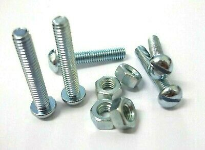 2BA 2 Inch Screws /& Nuts BA slotted round head Machine bolts Pack of 5..