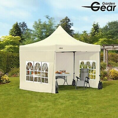 Garden Gear Waterproof Pop Up Gazebo Canopy 3x3m Party Tent Marquee with Sides