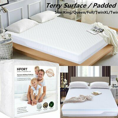 Mattress Protector Waterproof Soft Hypoallergenic Fitted Pad Bed Cover US