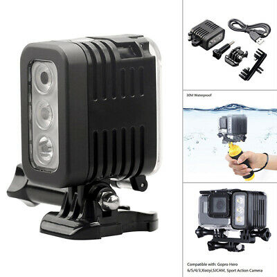 Diving light For GoPro Hero 6 5 300lm 3-7V 1000mah Video Portable Accessories