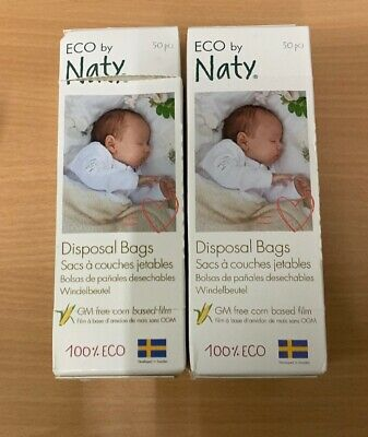 Naty by Nature Babycare Eco Disposal Nappy Bags - X2 Packs of 50