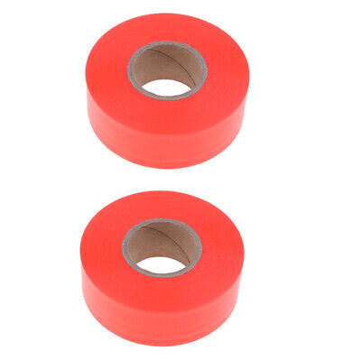 2x Bright Colored Hunting Hiking Camping Trail Marking Flagging Tape Ribbon